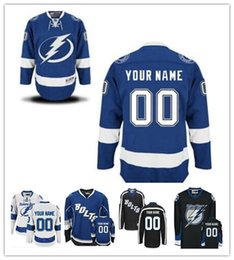 Wholesale Bolt Red - Stitched Personalized Tampa Bay Lightning Custom Mens Womens Youth Ice Hockey Jerseys Home Royal Blue Away White Bolts Black Third S,4XL