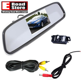 """Wholesale Backup Dvd Video - 4.3"""" TFT Car LCD Rear View Rearview DVD Mirror Monitor + Backup Camera Video"""