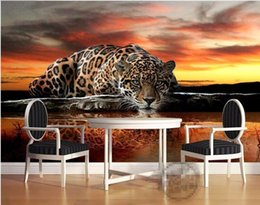 Wholesale High Photo Paper - custom photo wallpaper High quality leopard wall covering living room sofa bedroom TV backdrop wallpaper mural wall paper