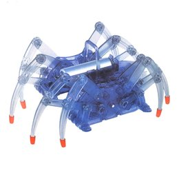 Wholesale Diy Spider Robot - Feichao Creative Hand DIY Electric Spider Robot Toy Science and Technology Small Robot Production Assembles Toys For Kids F19163