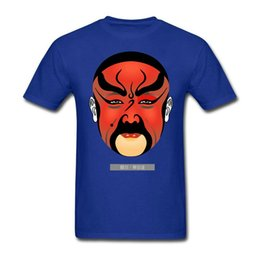Wholesale Cheap Chinese Fashion Clothes - New Design Chinese Peking Opera Mask for Man Round Collar T-Shirt Cheap Wholesale Crew Neck Adult Clothing