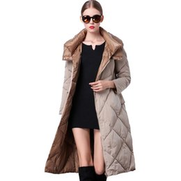 Wholesale Down Jackets For Ladies - Women's Winter Jacket 2016 Fashionable Clothing Sale Long Quilted Parka Duck Down Feathers Korean Style Warm For Ladies