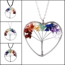 chip stone jewelry wholesale Coupons - 2017 Popular Necklace Jewelry Tree Of Life Quartz Chips Natural Stone Bead Latest Fashion Reiki Healing Stone Valentine Gift B156S