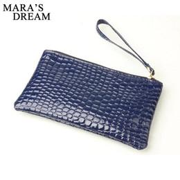 Wholesale Crocodile Hobo Bag - Wholesale- 2016 New Fashion Handbag Womens Crocodile PU Leather Zipper Solid Colors Clutch Handbag Bag Coin Purse Crocodile purse Clutch