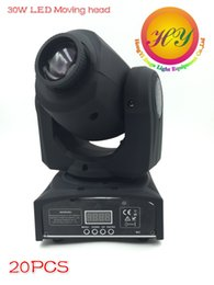 Wholesale Stage Light Moving Gobo - (20 pieces lot) moving head led spot led 30w dj 8 gobo stage lighting effect moving head light