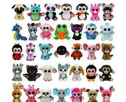 Wholesale Designed Beanies - Big Eyes Animals Soft Dolls 35 Design Ty Beanie Boos Plush Stuffed Toys 15cm WholBig Eyes Animals Soft esale for Kids Birthday Gifts ty toys