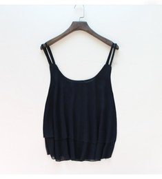 Wholesale Sexy Sun Clothes - Summer Tanks Camis Sexy Women Strap Tops Chiffon Sleeveless Vest Camis Black Rose Purple White Tees sun-top Women Clothing Apparel 6 Colors