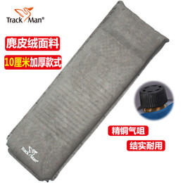 Wholesale floor cushion pads - Wholesale- 10cm thick single person automatic self inflating pad air cushion floor mat nap inflatable outdoor camping mat moisture mattress