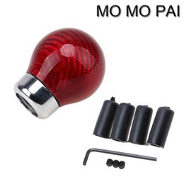Wholesale honda fit carbon - HOT Universal Carbon Fiber Ball Round Shape Car Gear Shift Knob Shifter Lever fit for VW NISSAN HONDA SEAT