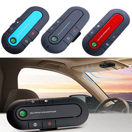 Wholesale High Quality Wireless Speakers - New Bluetooth V3.0 Wireless Speaker Phone Slim Magnetic Hands Free In Car Kit Visor Clip High Quality Bluetooth Car Kit 3 colors