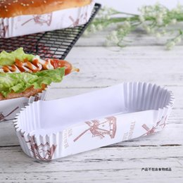 Wholesale Sandwich Wrapping Paper Wholesale - Hot Dog Bread Cake Packaging Boxes High Temperature Resistance Salad Dessert Sandwich Box Gift Box Packaging 100pcs lot