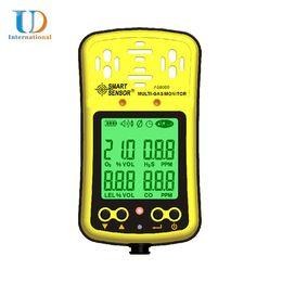 Wholesale Multi Tester Digital - Wholesale-Digital Multi Gas Detection For Oxygen Monitor Carbon Monoxide Tester Hydrothion Meter Combustible Test Smart Sensor AS8900
