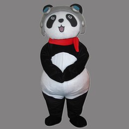 Wholesale Cartoon Character Costume Panda - Cartoon Character Cute Panda Adult Size Mascot Bear Costume Fancy Birthday Party Dress Halloween Carnivals Costumes With High Quality
