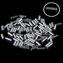 Wholesale Wholesale Fish Leader - 100pcs Aluminum Fishing Leader Crimps Sleeves Ferials Fish Accessories 1.0 1.6 mm F00253 SMR