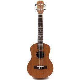 """Wholesale Acoustic Ukulele - Wholesale-Free shipping 26"""" Tenor Cutaway Electric Acoustic ukulele Hawaii Guitarra Music Instrument Ukelele Promotion 18 Fret"""