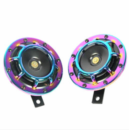 Wholesale Electric Horn Truck - Universal 1Pair Hella Horn Super Loud Colorful Compact Electric Blast Tone For CAR TRUCK Motro Speaker