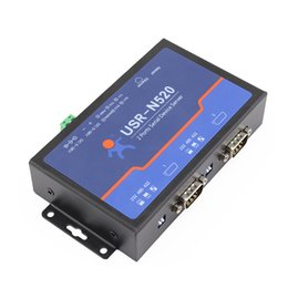 Wholesale Tcp Serial Converter - Freeshipping Q1800 USN520 Serial to Ethernet Server TCP IP Converter Double Serial Device RS232 RS485 RS422 Multi-host Polling