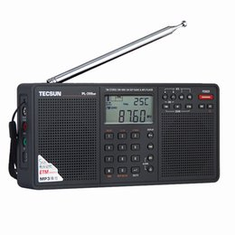 Wholesale Mp3 Player Band - Wholesale-Tecsun PL-398MP 2.2'' Full Band Digital Tuning Stereo Radio Receiver DSP radio FM SW MW LW with Stand and MP3 Player