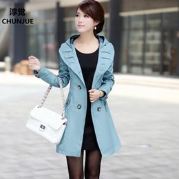 Wholesale trench style dresses - Plus Size L-3XL 4XL 5XL 6XL Women Trench Coat New Tops Spring Autumn Style Fashion Casual Dress Outerwear Dresses vestidos dress