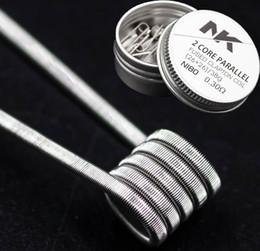 NK 2017 vendita calda Nichrome prebuilt bobina vape doppia fusione fusa clapton 0.3ohm bobina di riscaldamento ECig per RDA / RBA / RTA cheap vape fuse da scollegare il fusibile fornitori