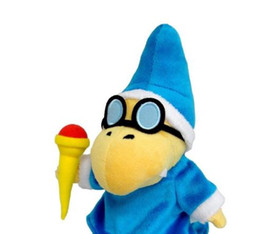 Wholesale New Super Mario - 1 Pc NEW Kamek Magikoopa 7in Stuffed Plush Toy Super Mario Bros Figure Doll (Color: Blue)