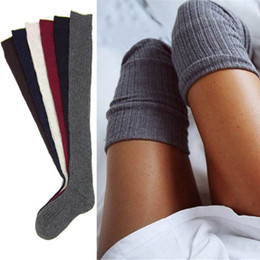 Wholesale Wool Boots For Women - Wholesale-Wool Blended Long Warm women Stock Turn Up Winter Boot For Woman Girls Lady 1 Pair socks
