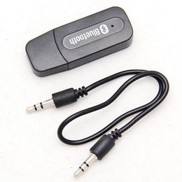 Wholesale Usb Bluetooth Music Receiver Adapter - USB 3.5mm Wireless Bluetooth Music Streaming Stereo A2DP Audio Car Handsfree Receiver Adapter Free Shipping