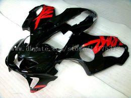 Wholesale 99 Honda Cbr F4 - 100% new CBR600 F4 Fairings for HONDA CBR600F4 1999-2000 CBR 600F4 CBR600 F4 600 F4 99 00 1999 2000 fairing kit #d924k Black red