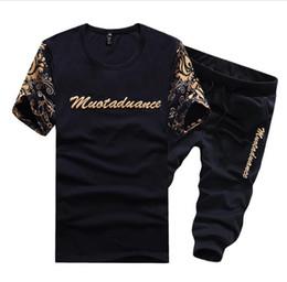 Wholesale Outwear For Boys - Plus Size 5XL T shirt+Shorts Set 2017 Summer Sportwear 2 Piece Set Men Casual Suits For Men Boys Outwear Suit Men Tracksuit