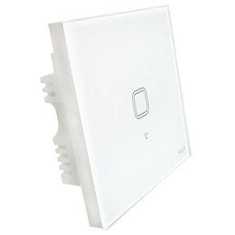 Brand new Touch UK Plug Wall Wifi Interruttore della luce Pannello di vetro Touch Luci LED Interruttore per Smart Home Wireless Remote Switch Control da