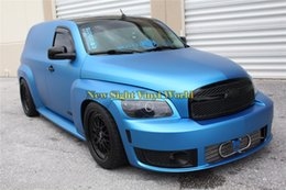 Wholesale Matte Blue Vinyl Car Wrap - High Quality Matte Satin Chrome Aluminum Blue Vinyl Wrap Film Folie Bubble Free For Car Wrapping