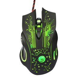 Wholesale Gaming Mouse Lights - Wholesale- Malloom 2017 Mouse Mause 7 Color Breathing Lights Gaming Mouse For Pc Compute Laptop 6 Buttons 5 Adjustable 5500 DPI For Choice