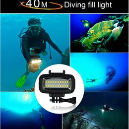 Wholesale Head Light Diving - Wholesale- Underwater 40m Waterproof High Power Dimmable LED Video POV Flash Fill Light Night Light for SJCAM SJ4000 SJ5000,XIAOMI, 700LM
