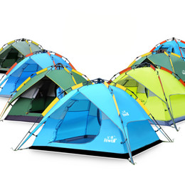 Wholesale Above Door - Original Hewolf 3-4 Persons Outdoor Camping Tent Hiking Beach Tent Tourist Bedroom Travel Hydraulic Tent 2017 New Arrival 2527002