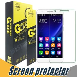 Wholesale glass nova - Explosion Shatter Tempered Glass Screen Protector 9H 2.5D For Huawei Honor 8 Nova Plus Nova Lite Y3II Y5II Y6II 5A 5A Lite