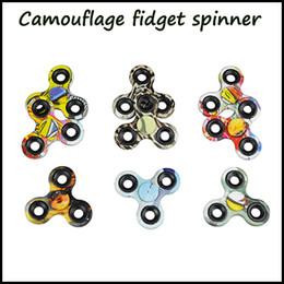 bunte flash-spinnerei Rabatt Auf Lager !!! Camouflage Zappeln Spinner Hand Spinner Fidget EDC Spielzeug für Autismus und ADHS Kinder Stress Relief Dekompressionsangst Spielzeug