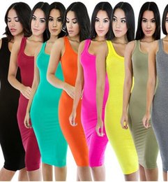 Wholesale Pink Dresses United States - Free shipping sale hot style sexy Europe and the United States more than 2017 color package hip skirt Bind the bandage dress Night dress