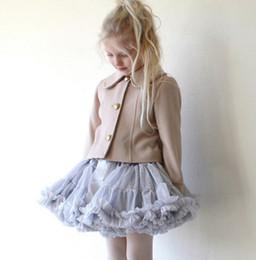 Wholesale Blue Tutu Ribbon Skirt - Girls tutu skirts Children bow stain tulle tutu skirts hot sell baby kids lace princess party skirts children clothing girls bottoms A0807