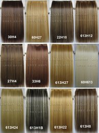 Wholesale Extension Piece Clip Synthetic - One Piece Clip in Hair Extensions Straight Long Highlight Hair Clip on Hairpieces Synthetic Hair for 3 4 full Head