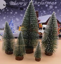 Wholesale Media Desktop - Christmas Tree Desktop 15cm Mini White Encryption Christmas Tree Counter Decoration Gifts Christmas Decorations wholesale free shipping