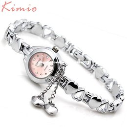 Wholesale Lady Small Watch - KIMIO Simple Small Dial Love Decoration Bracelet Ladies Famous Brand Women Luxury Watches Womens Quartz-watch Female Wristwatch