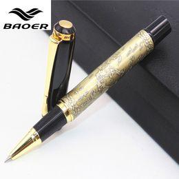 """Wholesale Eight Ball - Genuine Baoer 507 Roller ball Pen Golden Xubeihong """"the eight horses"""" Medium Nib rollerball Pen"""