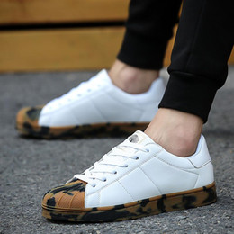 Wholesale Korean Lace Up Flats - 2017 New Spring and fall Men's Casual Shoes superstar Flat Shoes chaussure homme Korean Breathable Air Mesh Men Shoes Zapatos Hombre SU