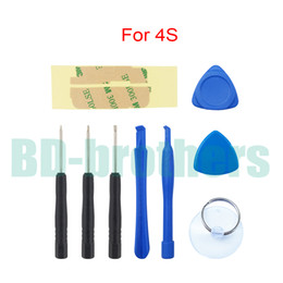 Wholesale Tools For Cell Phones - 9 in 1 Repair Pry Opening Tools Kit Tool FOR Cell phone APPLE IPHONE iPhone 4s 300sets