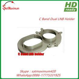 Wholesale Satellite Brackets - Free shipping dual satellite LNB holder bracket for C band dish antenna