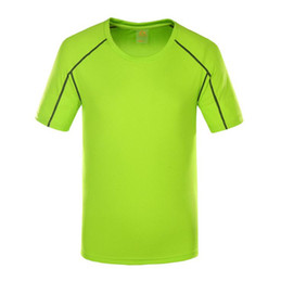 Wholesale Stretch Sport T Shirts - Factory Outlet Men's Sports T-shirt short-sleeved running fitness service breathable quick-drying stretch shirt wholesale