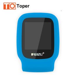 Wholesale Mp3 Music Clock - Wholesale- Original RUIZU X09 Mini Sport MP3 Music Player With Screen Can Play 30 Hours FM,E-Book,Clock,Data Smallest MP3 Player