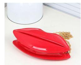 Wholesale Multi Color Hand Bag - Korea new personality lips hand bag fashion chain zipper shoulder bag aslant female bag