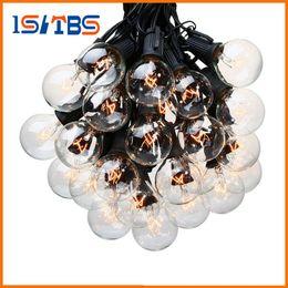 Wholesale Decorative Mushrooms - 25Ft G40 Bulb Globe String Lights with Clear Bulb Backyard Patio Lights Vintage Bulbs Decorative Outdoor Garland Wedding