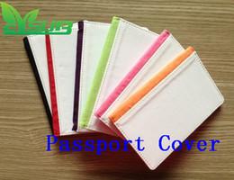 Sublimação PU capa protetora de couro para o portador de passaporte 2D impressão da imprensa de transferência de calor capa em branco personalizado DIY 1000 pçs / lote de